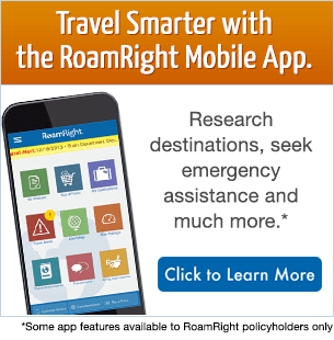 Be a smarter traveler with the RoamRight Mobile App.